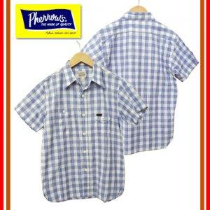 18S-750WSS-MS 半袖チェックガーゼワークシャツ
