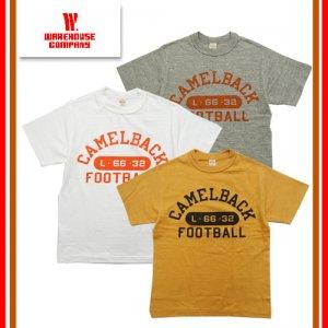 WAREHOUSE ウエアハウス 4601 「CAMELBACK」 Tシャツ 半袖 TEE ヴィンテージ カレッジプリント