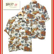 SUN SURF×葛飾北斎 SPECIAL EDITION SS37918 忠臣蔵討入 アロハシャツ