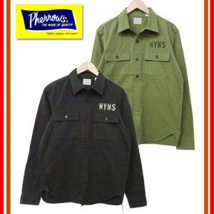 【9月下旬〜10月入荷予定】 18W-710MS-C コットンツイルアーミーシャツ