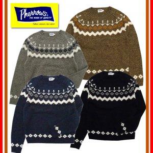18W-PSFS1 イカリ柄ジャガードセーター