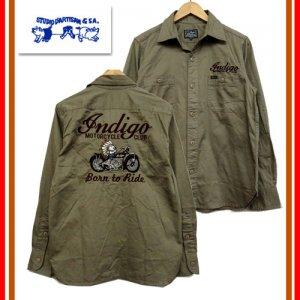 5620 刺繍長袖ワークシャツ