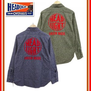 HD28008 HEADLIGHT実名復刻 「HEADLIGT COVERT WORK SHIRT」