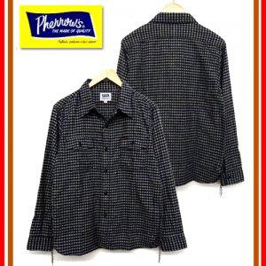 カタログ未掲載 18W-722WS-C ウールコットンギンガムチェックワークシャツ