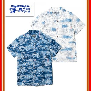 【予約3月〜4月入荷】SP-036 40周年インディゴ アロハシャツ