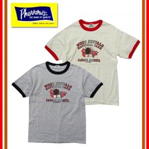 19S-PRT1 「WOOD BUFFALO」 リンガーTシャツ
