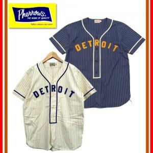 19S-PBBS1 ベースボールシャツ 「DETROIT」