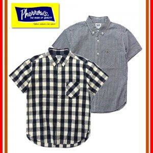 19S-PBDS2 コットンリネン半袖チェックBDシャツ