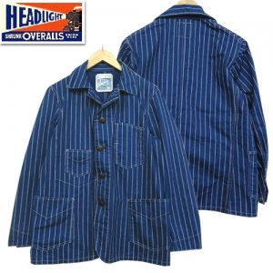 HD14384 HEADLIGHT実名復刻 「9oz WABASH STRIPE WORK COAT」