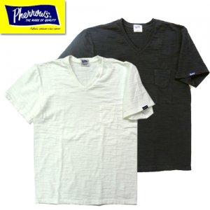 19S-PSPT2 スラブコットンポケット付きVネックTシャツ