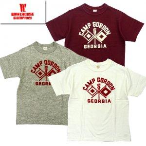 (ホワイト追加) 4601 「CAMP GORDON」 プリントTシャツ