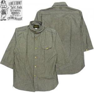 OR-5027C ショールカラー 6分袖シャツ