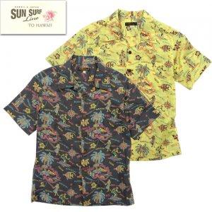 SS38107 「HELE-MAI-E」 コットンリネンスラブヤーンオープンシャツ