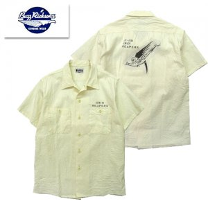 BR38188 「WHITE CHAMBRAY S/S WORK SHIRT STENCIL」
