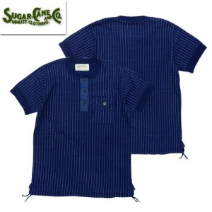 SC78231 4NEEDLES WABASH STRIPE S/S HENLEY NECK