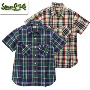 SC38159 マドラスチェック リネンコットン ワークシャツ