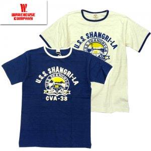 4059 「U.S.S. SHANGRI-LA」 リンガーTシャツ