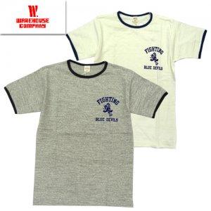 4059 「BLUE DEVILS」 リンガーTシャツ