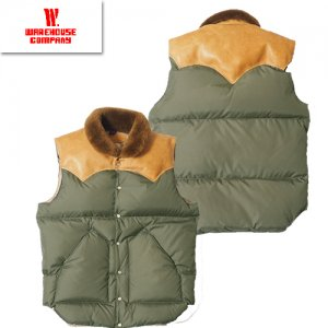 WAREHOUSE×ROCKY MOUNTAIN ナイロンダウンベスト Lot2138 「CHRISTY VEST」