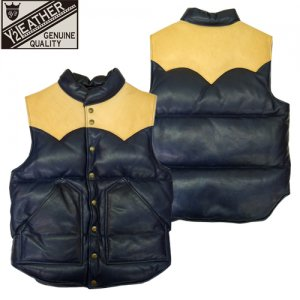 SV-01 STEER.OIL×HORSE HIDE DOWN VEST  レザーダウンベスト