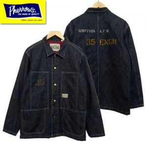 19W-PQCA1-35 ステンシルプリントアーミーデニムシャツジャケット