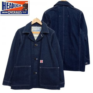 HD14553 HEADLIGHT実名復刻 「9.5oz BLUE DENIM WW2 WORK COAT