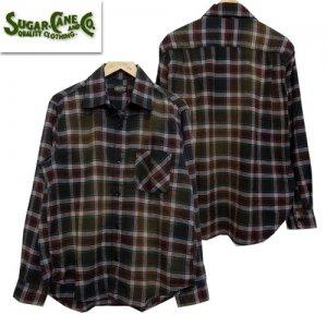 SC28266 エイジング加工(ブリーチ加工)ネルシャツ