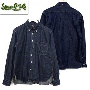 SC28003 8.5oz. BLUE DENIM ボタンダウン シャツ