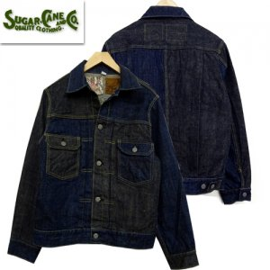 SC10701 「砂糖黍藍混×HAWAII藍混 14oz DENIM BLOUSE」
