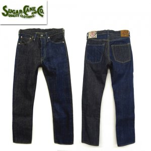 SC41701 砂糖黍製 琉球藍混×HAWAII藍混 14oz DENIM SLIM MODEL