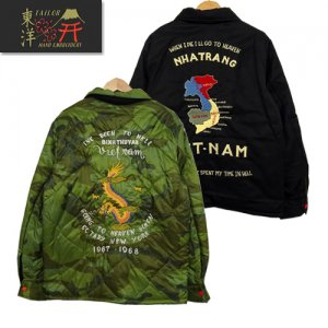 TT14471 Late 1960s Style Reversible Vietnam Jacket 「VIETNAM MAP×DRAGON」