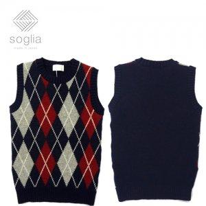 SOGLIA Landnoah Sweater ランドノア クルーネック ニット ベスト