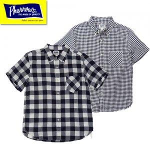 20S-PBDS2 チェック半袖BDシャツ ※ネイビー(バッファローチェック)追加
