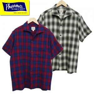 20S-PICS1 オンブレチェックイタリアンカラーシャツ