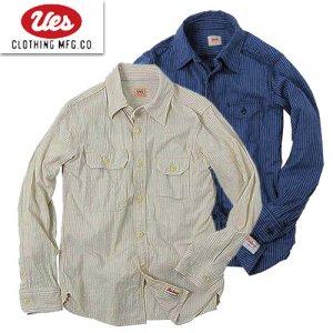 【予約3月~4月入荷予定】 501804 インディゴドビーストライプワークシャツ