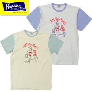 20S-PTP3 刺繍プリントTシャツ