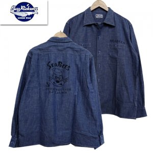 BR28349 「BLUE CHAMBRAY WORK SHIRT STENCIL」