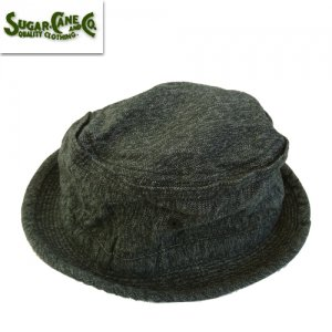 SC02627 9oz BLACK COVERT PORKPIE HAT