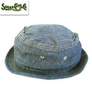 SC02628 BLUE CHAMBRAY PORKPIE HAT