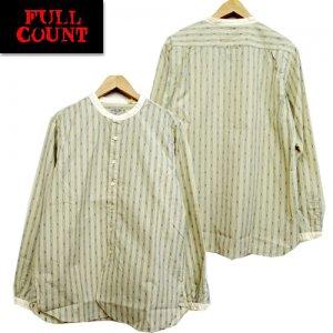 4036-2 クラシックストライプ バンドカラーシャツ