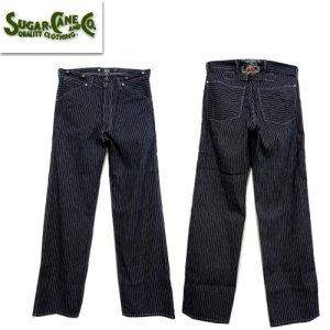 FICTION ROMANCE SC41908 「8oz INDIGO STRIPE WAIST OVERALLS」