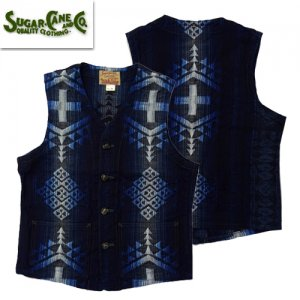 SC14627「10oz NATIVE AMERICAN DENIM WORK VEST」