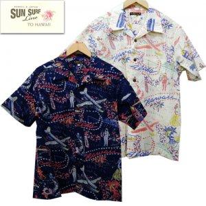 SS38411 コットンリネンスラブヤーンオープンシャツ 「HAWAII CALLS」
