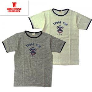 Lot4059 「TROOP 608」 リンガーTシャツ