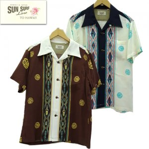 SS38476 RAYON OPEN SHIRT 「CLUB ORIENTAL」 byマスクドマーベル