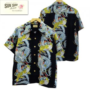 SS38417 SPECIAL EDITION HAWAIIAN SHIRTS 「TORNADO TIGER」 SURFRIDERS SPORTSWEAR