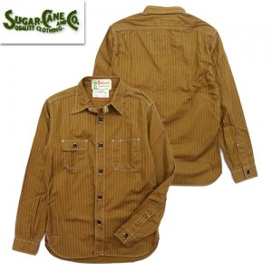 再入荷 SC28516「8.5oz BROWN WABASH STRIPE WORK SHIRT」