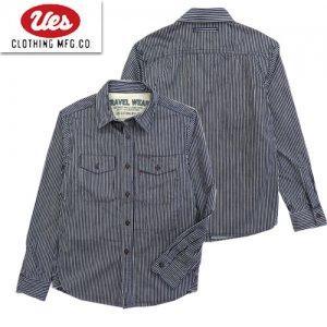 502060 ヒッコリーストライプトラベリングシャツ