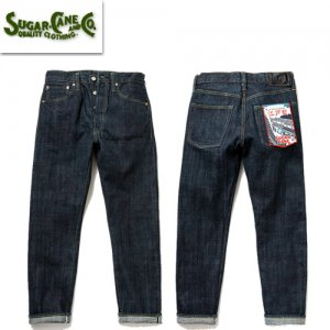 SC41502A 砂糖黍製 14oz. 江戸藍混右綾DENIM SLIM MODEL