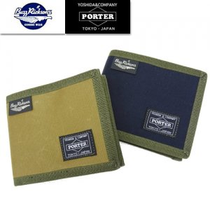 再入荷 BR02658 BUZZ RICKSONS×PORTER 「JUNGLE CLOTH WALLET」